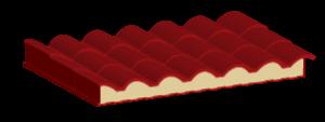 Panel de acero tipo teja