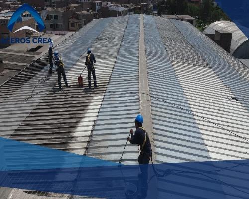 lamina de acero para techo