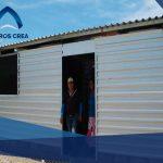 Casas construidas con lámina para programa de gobierno